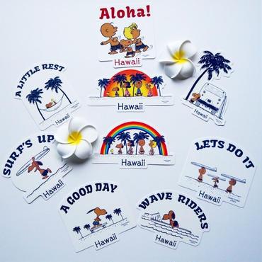 ハワイ 日焼けスヌーピー ステッカー