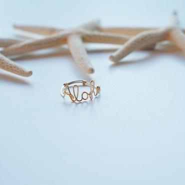ハワイ【ki•ele/キエレ】Aloha Wailea Wire ring/アロハ ワイヤーリング