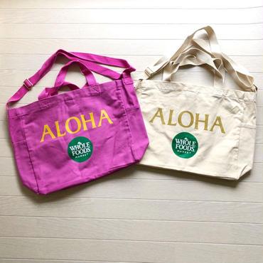 ハワイ ホールフーズマーケット/Whole Foods Market × Puna noni  ALOHA ショルダー トートバッグ/エコバッグ