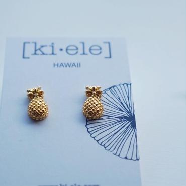 ハワイ【ki•ele/キエレ】Pinya II Stud earrings/パイナップル スタッズ ピアス 2