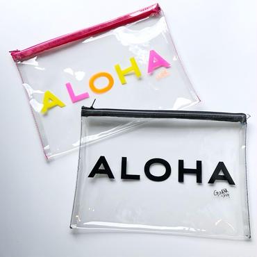 ハワイ Guava shop ALOHA ポーチ ラージ