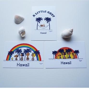 ハワイ 日焼けスヌーピー ポストカード