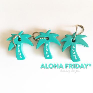 ハワイ Palmtree ALOHA フローティング キーチェーン/キーホルダー