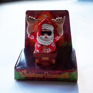 ハワイアン クリスマスオーナメント サンタクロース shaka