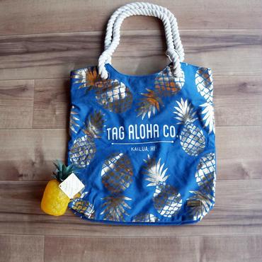 ハワイ Whole foods market × tag aloha パイナップル ゴールドトートバッグ/エコバッグ