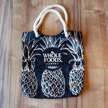 ホールフーズマーケット ×tag aloha パイナップル ブラック トー.トバッグ/エコバッグ