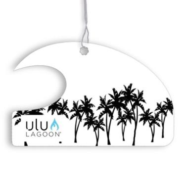 ulu LAGOON ミニ ウェーブ エアフレッシュナー Black Palm