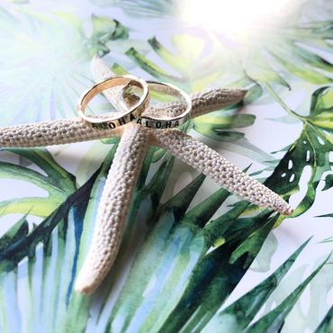 ハワイ Mo Made Jewelry スタンプドリング スターリングシルバー ALOHA/アロハ