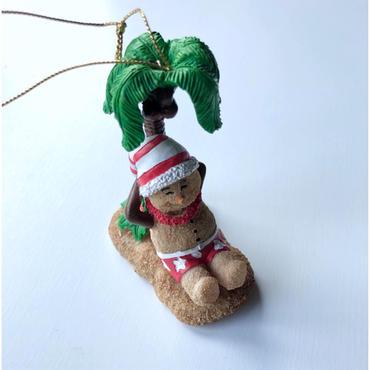 ハワイアン クリスマスオーナメント サンドマン  パームツリー