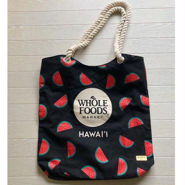 ホールフーズマーケット ×tag aloha スイカ/ウォーターメロン ブラック トー.トバッグ/エコバッグ