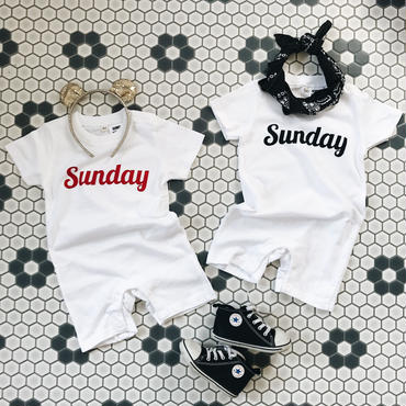 "for baby ""Sunday"" rompers"