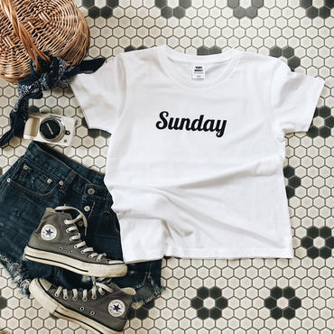"for woman ""Sunday"" White×Black"