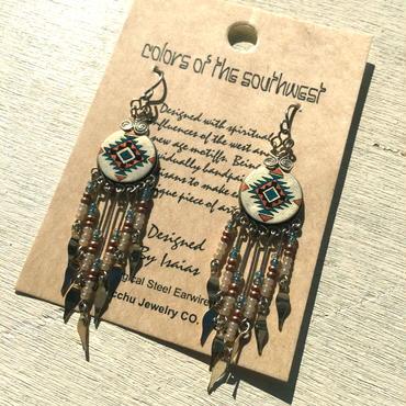 Machu picchu Jewelry Colors Circle Dangle long