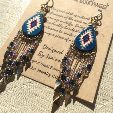 Machu picchu Jewelry Colors Teardrop Dangle long