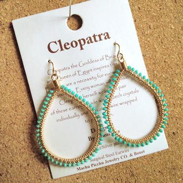 Machu picchu Jewelry Cleopatra teardrop  Turquoise