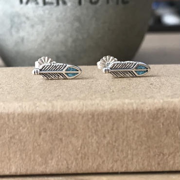 【7/11 20:00~】Turquoise Featherピアス Silver925製