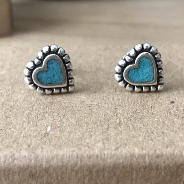 【7/11 20:00~】Turquoise Heartピアス Silver925製