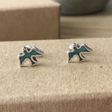 【7/11 20:00~】Turquoise Flying Doveピアス Silver925製