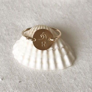 【BOXあり】Initial  Stamp Ring  by  Risusu Lenis