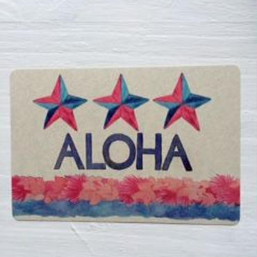 3 STAR ALOHA メッセージカード