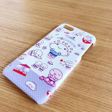 もちくんスマホケース(パープル/ブラック)iphone7