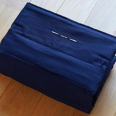 養成講座教材用 gran mocco 濃藍色(あづま袋:亜麻色)