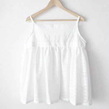 gathered short chemise / 03-7208008