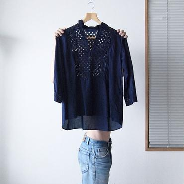 indigo-dyed skipper blouse pw / 03-7208004