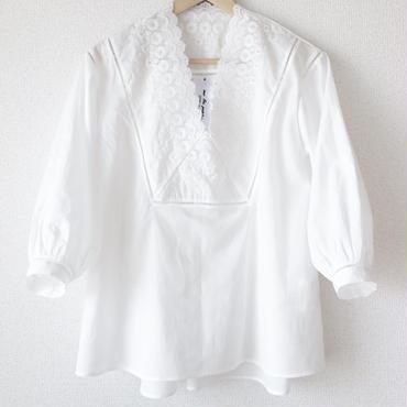 v-neck blouse / 03-7108001
