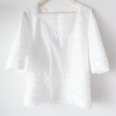 square neck blouse / 03-6108004