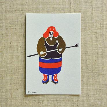 ポストカード 漁師町の男