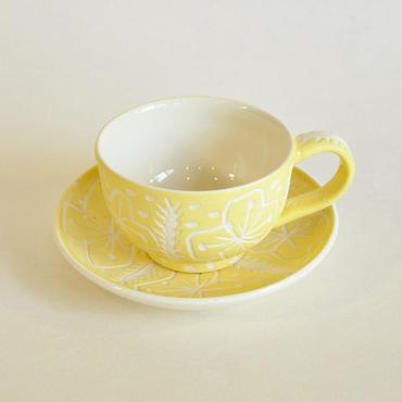 黄色の花 カップ&ソーサー