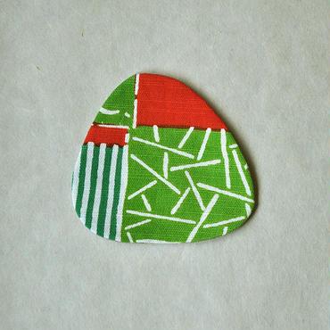 型染おむすびコースター|民布Ⅱ(多色)緑