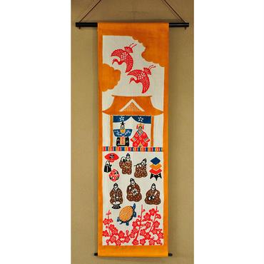 桃の節句タペストリー|五人囃子