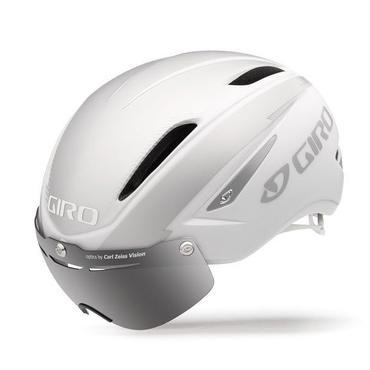 GIRO(ジロ) AIR ATTACK SHIELD Matte White / Silver 着脱簡単なシールドで更なる空力性能