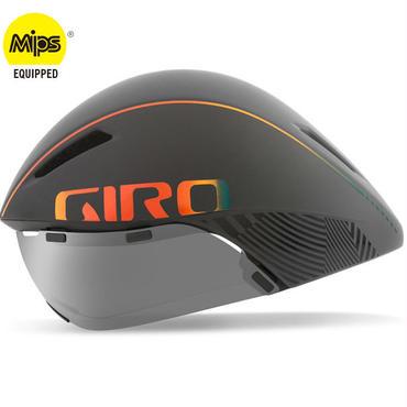 【予約注文・入荷次第発送】GIRO AEROHEAD MIPS Matte Grey Firechrome クールなままで時間に挑む トライアスロンやロングTT向けモデル