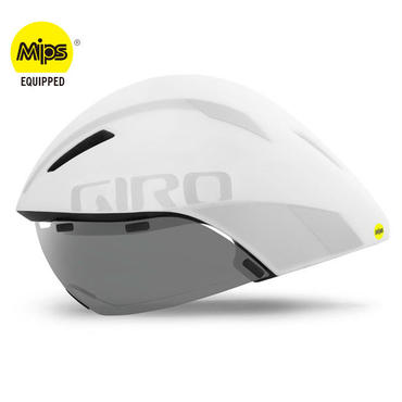 GIRO AEROHEAD MIPS Matte White / Silver クールなままで時間に挑む トライアスロンやロングTT向けモデル