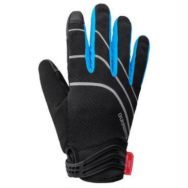SHIMANO Windstopper® インサレーテッド グローブ ブラック/ブルー   Sサイズ