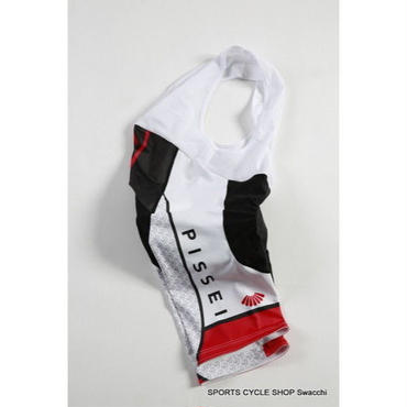 【Swacchi × PISSEI】コラボ サイクルウエア Bib Shorts RED  サイズ1(XS)