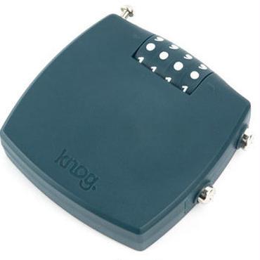 Knog  MILK MAN COMBO INDIGO 4桁ダイヤルタイプのポリカーボネイトボディのスチールケーブルロック
