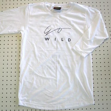 GO WILD文字プリント七分袖TシャツMサイズ白 【Cliff】アウトドアウェア登山トレッキングボルダリングバックパッカー