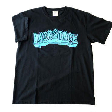 BACK STAGE BLOCK Tee / BLACK