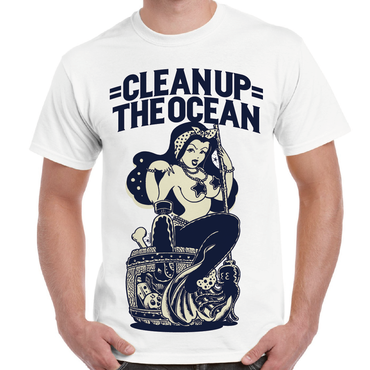 """Clean Up the OCEAN"" Tee / White"