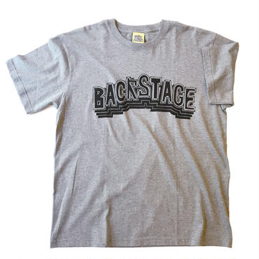 BACK STAGE BLOCK Tee / MixGray