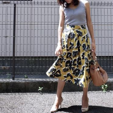 花柄秋色フレアスカート/3colors