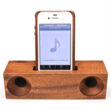i Phone用木製スピーカースタンド