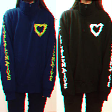 SSD♡HULF ZIP sweat