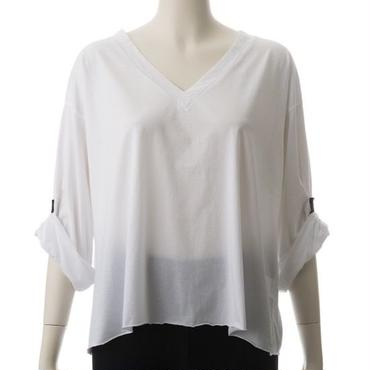 T-ree V NECK OVERSIZE T SHIRT (WHITE)