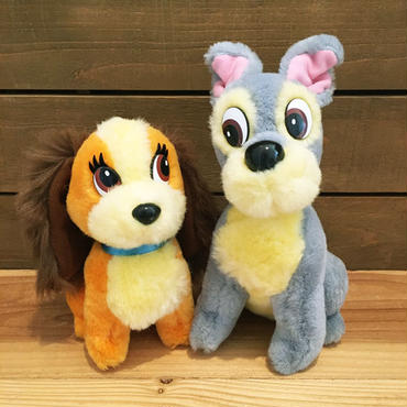 Lady and the Tramp Lady & Tramp Plush Doll Set/わんわん物語 レディ & トランプ ぬいぐるみセット/181129-10