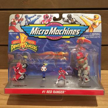 POWER RANGERS Micro Machines Red Ranger Figure Set/パワーレンジャー マイクロマシン レッドレンジャー フィギュアセット/180320-10
